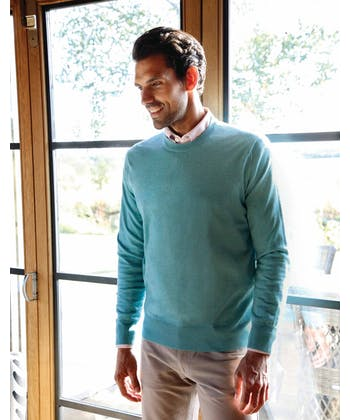 Merino Jumper - Crew Neck - Teal
