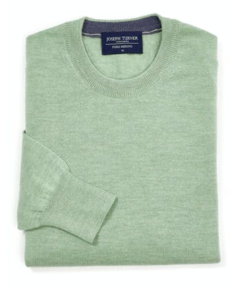 Merino Jumper - Crew Neck - Spring Green