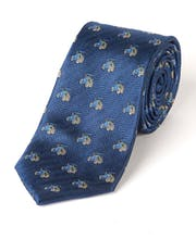 Tractors on Navy - Woven Silk Tie