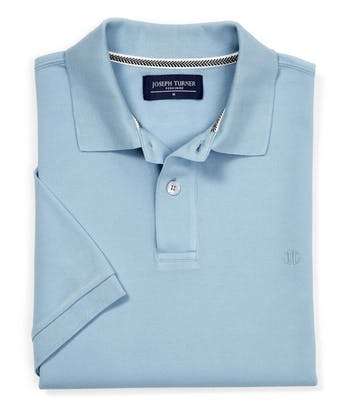 Pique Polo Shirt - Washed Blue