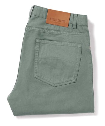 Twill Jeans - Washed Green