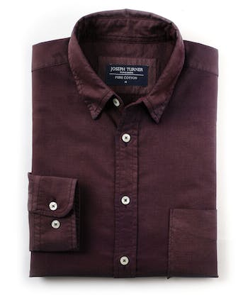 Plain Oxford Shirt - Wine