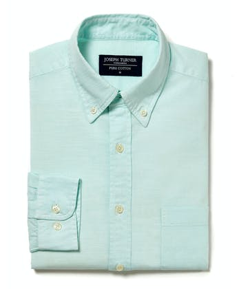Staithes Button-Down Shirt - Aqua