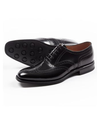 Full Brogue - Rubber Sole - Black