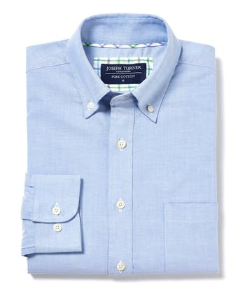 Button-Down Oxford Shirt - Blue