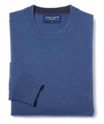 Cashmere Crew Neck - Blue