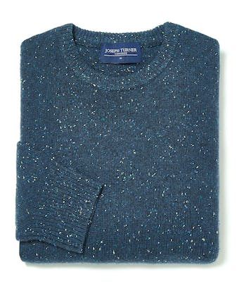 Donegal Jumper - Crew Neck - Blue