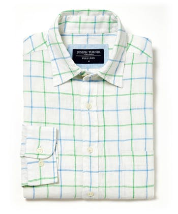 Linen Shirt - Long Sleeve - Blue/Green