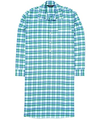 Nightshirt - Blue/Green (Brushed)