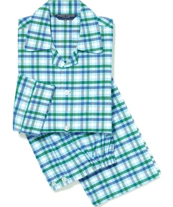 Pyjamas - Blue/Green (Brushed)