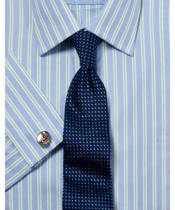Blue/Green Stripe Formal Shirt