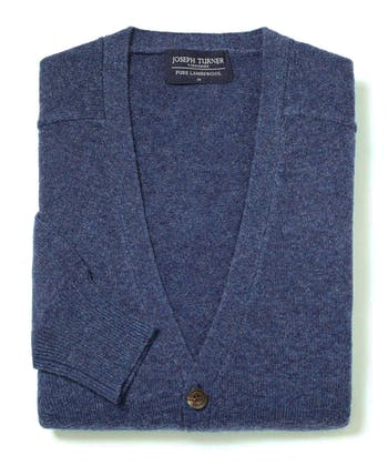 Lambswool - Cardigan - Blue