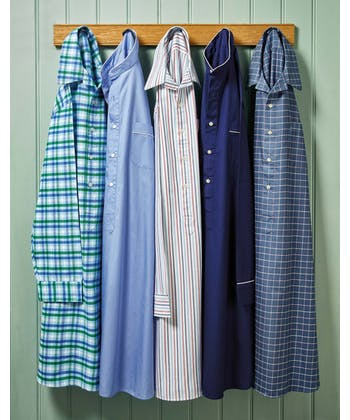 Nightshirt - Navy/Pink Check (Brushed)