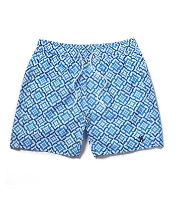 Swimming Trunks - Blue Mosaic