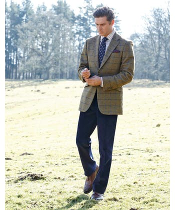 Tweed Jacket - Blue/Navy
