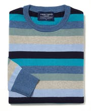 Cotton/Cashmere Stripe Jumper