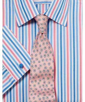 Blue/Pink Butcher Stripe Shirt