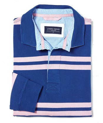 Rugby Shirt - Blue/Pink