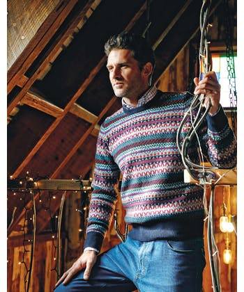 Fair Isle Jumper - Blue/Red