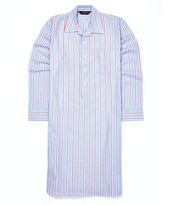 Nightshirt - Blue/Red Stripe (Brushed)