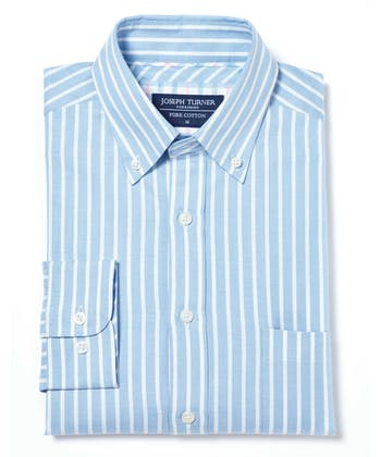 Button-Down Oxford Shirt - Blue/White