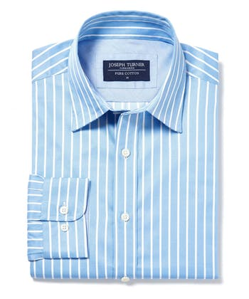 Casual Stripe Shirt - Blue/White