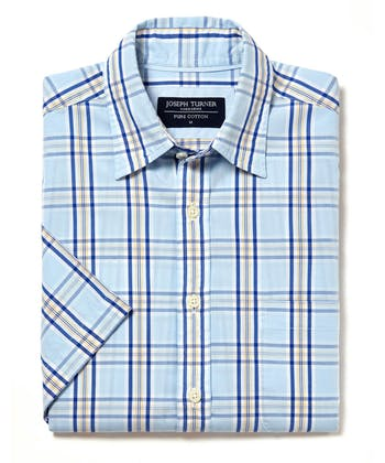 Sandsend Shirt - Short Sleeve - Blue/Yellow