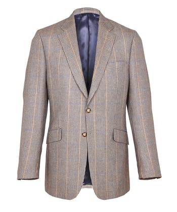 Tweed Jacket - Brown/Blue