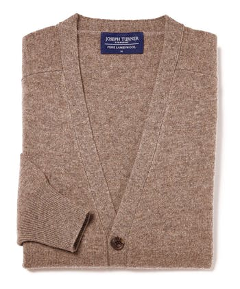 Lambswool - Cardigan - Brown
