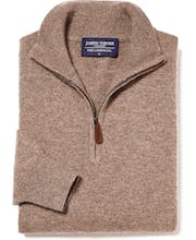Lambswool Jumper - Half Zip