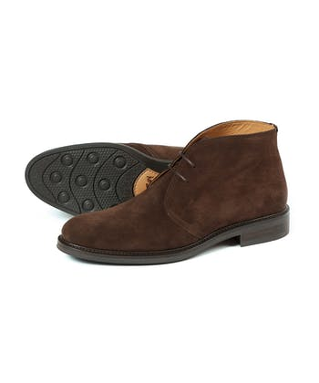 Ascot Boot - Brown Suede