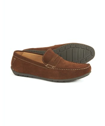 Goodwood Driving Loafer - Brown Suede