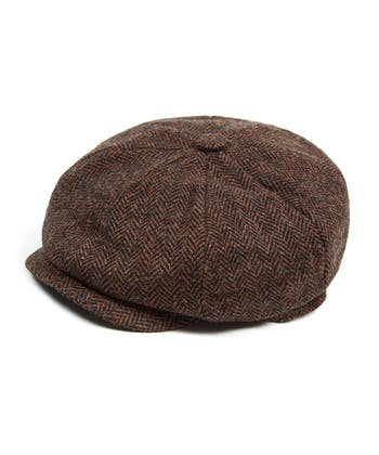 Newsboy Cap - Brown Tweed