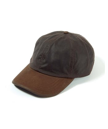 Peaked Cap - Brown Waxed Cotton