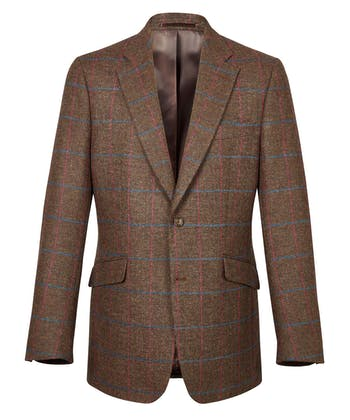 Tweed Jacket - Brown Windowpane
