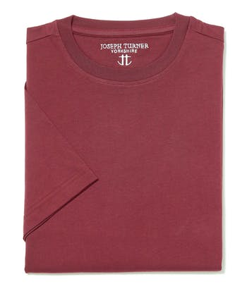 Cotton T-Shirt - Burgundy