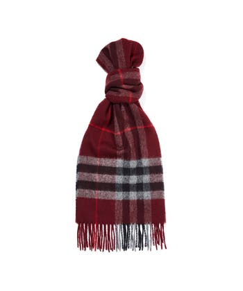 Lambswool Scarf - Burgundy