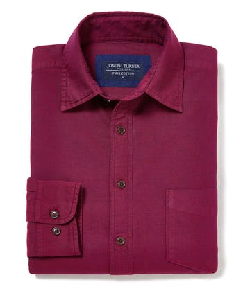 Plain Oxford Shirt - Burgundy