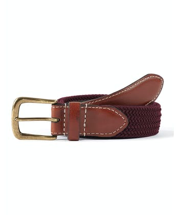 Webbing Belt - Burgundy