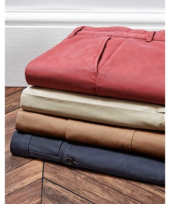 Pleated Front Chinos - Tan