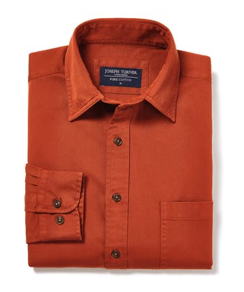 Cotton Twill Shirt - Cinnamon