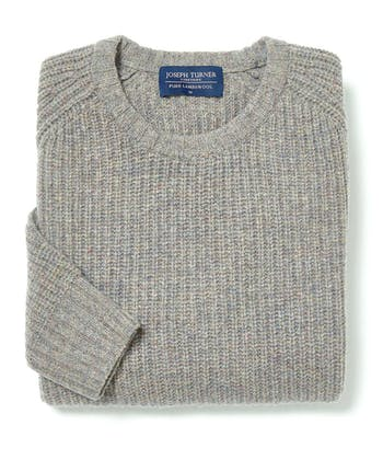 Lambswool Whitby Rib Jumper - Cobble