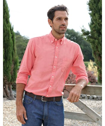 Staithes Button-Down Shirt - Coral