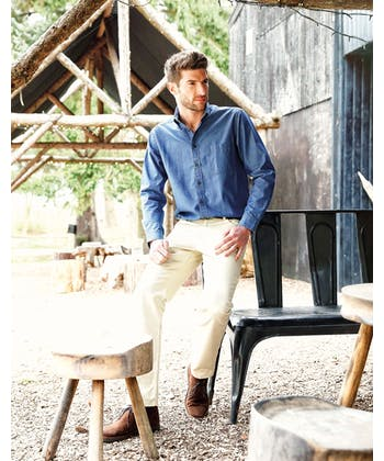 Chambray Shirt - Dark Blue