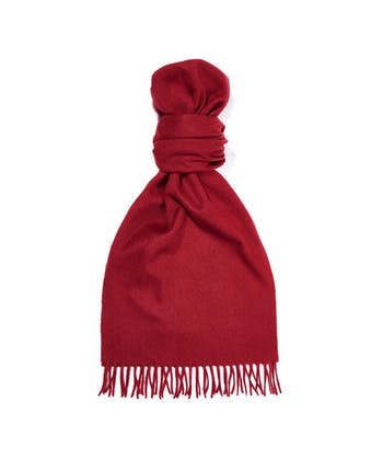 Cashmere Scarf - Dark Red