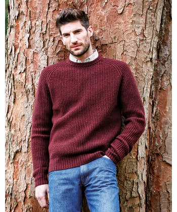 Lambswool Whitby Rib Jumper - Navy