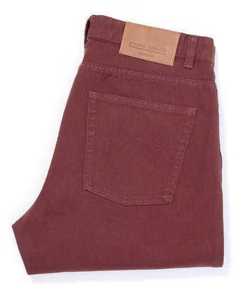 Twill Jeans - Dark Red