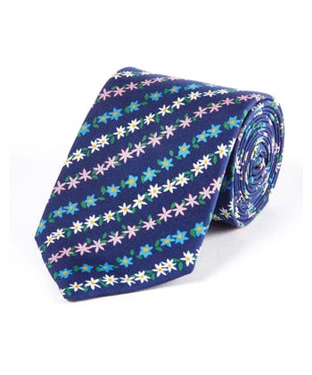 Small Multicolour Floral - Printed Silk Tie