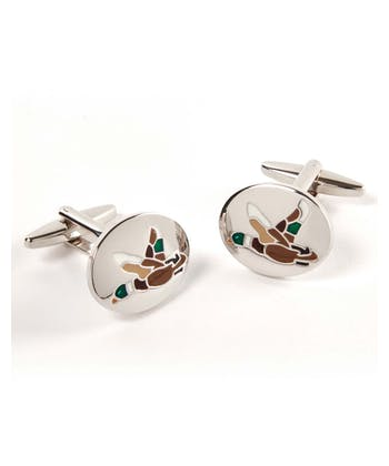 Flying Duck Oval Cufflinks