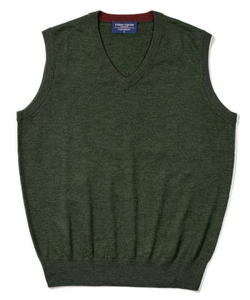 Merino - Slipover - Forest Green